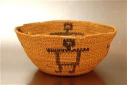 719: Papago Indian Native American Figural Basket