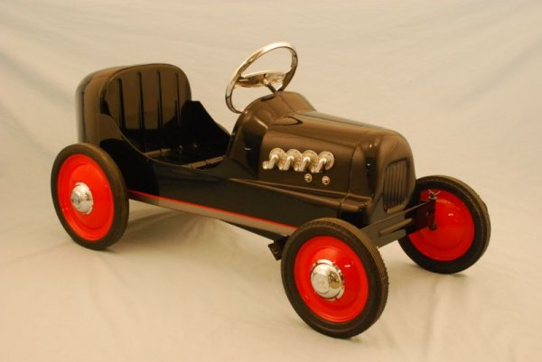 1: Antique Boat Tail Racer Pedal Car