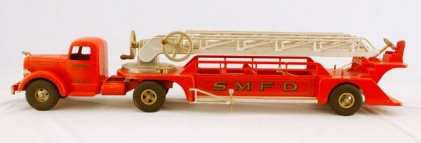 5: Smith Miller No. 3 Ladder Fire Truck Smitty Toys