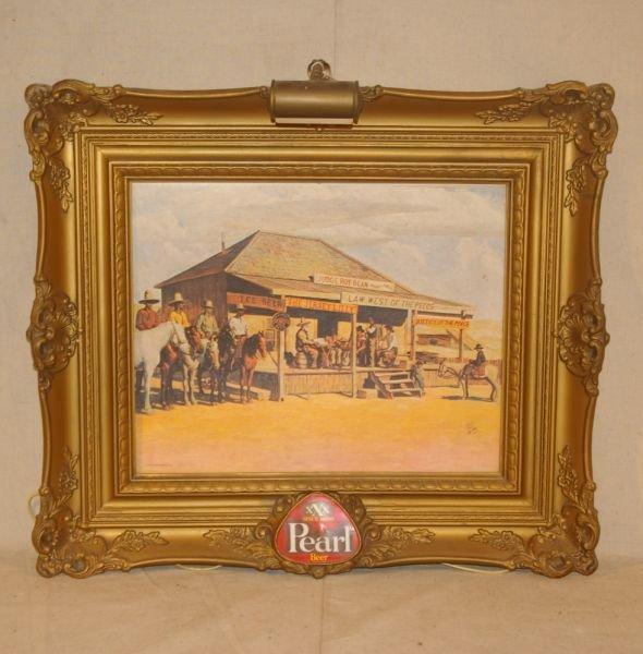 18: Pearl Beer Judge Roy Bean Advertising Sign