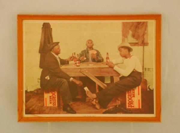 23: 1930s Progress Beer Sign Black Americana