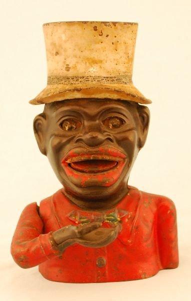25: Antique Jolly Negro Top Hat Mechanical Bank