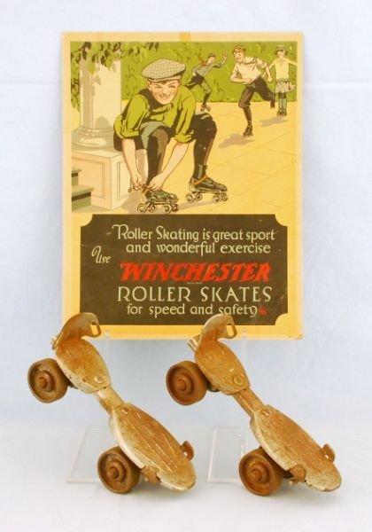 60: 1926 Winchester Roller Skates Advertising & Skates