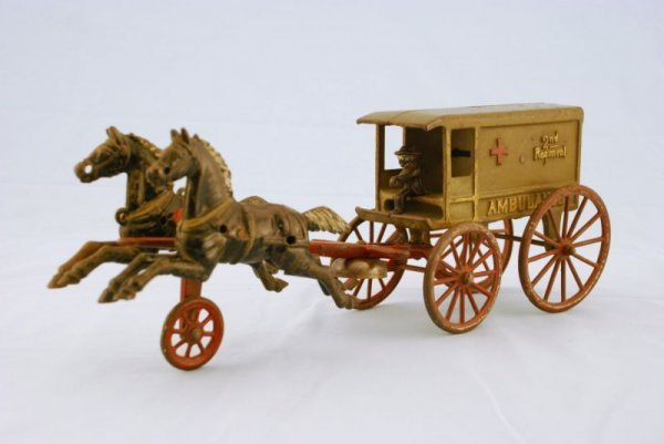 98: Rare Kenton Horse Drawn 2nd Regiment Ambulance