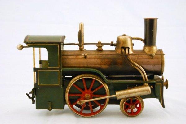 145A: Antique Bing Live Steam Engine Toy Train