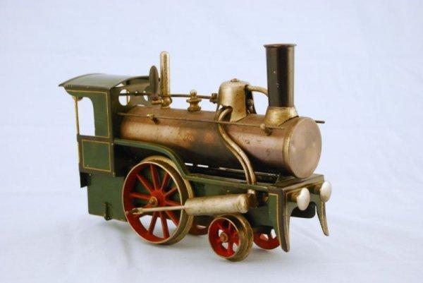 145A: Antique Bing Live Steam Engine Toy Train - 2