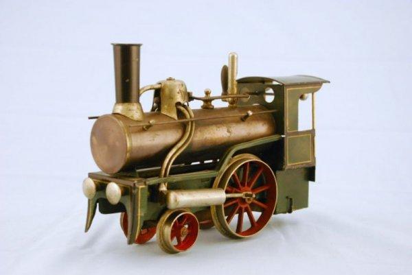 145A: Antique Bing Live Steam Engine Toy Train - 3