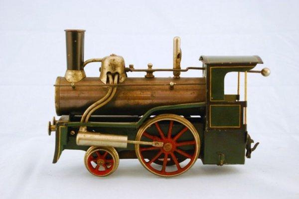 145A: Antique Bing Live Steam Engine Toy Train - 4