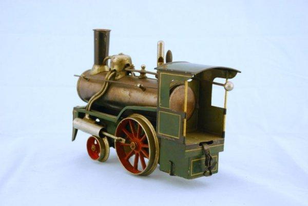 145A: Antique Bing Live Steam Engine Toy Train - 5