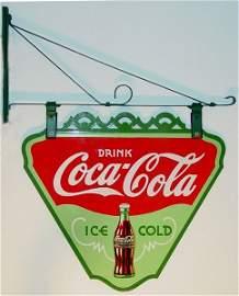190: RARE Coca-Cola Triangle Porcelain Sign