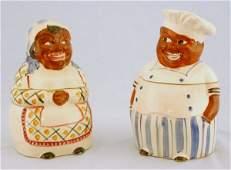 233: Pair of Mammy & Cooky Cookie Jars Black Americana