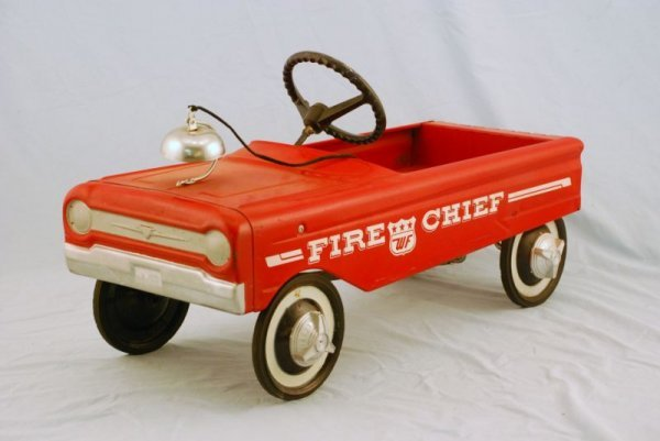 591: AMF Fire Fighter Truck #505 Pedal Car 1960s