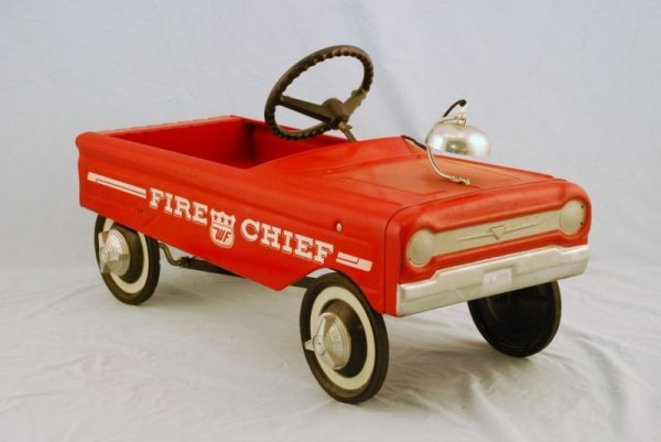 591: AMF Fire Fighter Truck #505 Pedal Car 1960s - 2