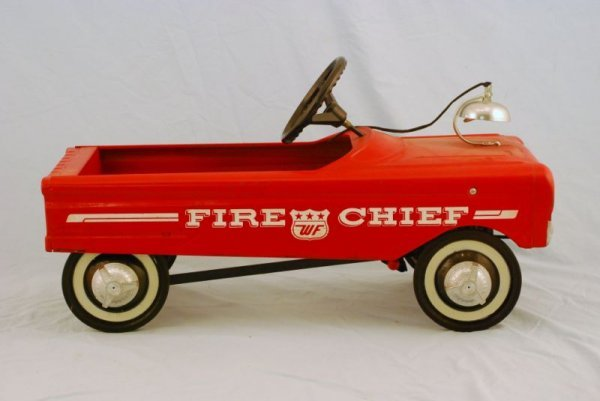 591: AMF Fire Fighter Truck #505 Pedal Car 1960s - 3