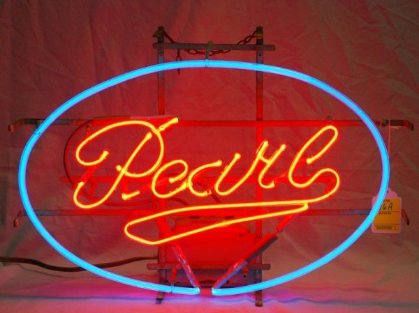 16A: Pearl Beer Neon Sign.