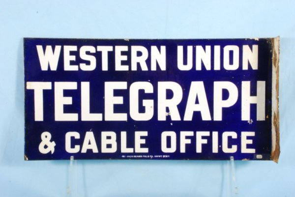 309: Western Union Telegraph & Cable Office Flange Sign