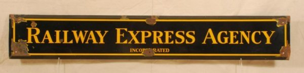 311: Railway Express Agency Porcelain Sign
