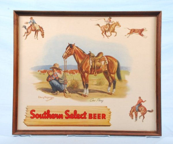 321: Southern Select Beer Advertising Cowboy Sign