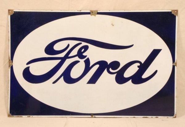 377: Vintage Ford Porcelain Sign
