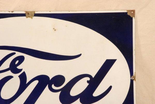 377: Vintage Ford Porcelain Sign - 3