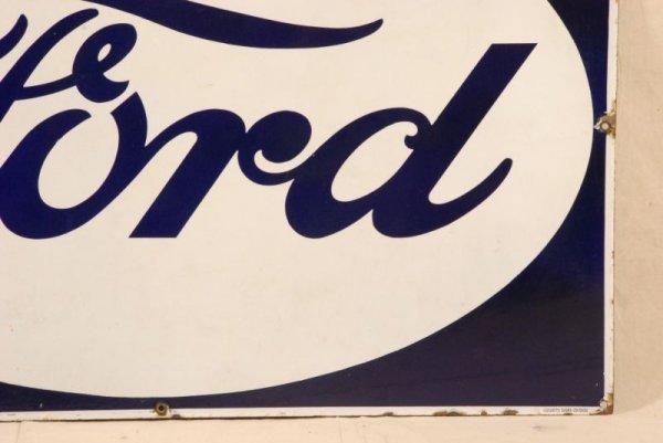 377: Vintage Ford Porcelain Sign - 4