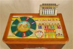 529 1939 Evans Bangtails Horse Racing Slot Machine