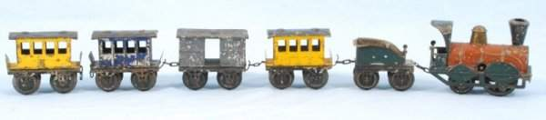 578A: Early Antique Tin Toy Train