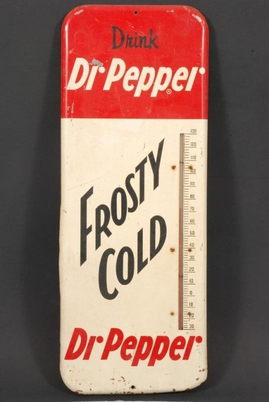 611: 1958 Dr Pepper Frosty Cold Thermometer