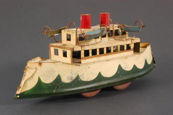 1: Hill Climber Tin Toy Boat
