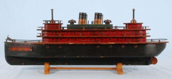 2: German Wind-Up Libertania Toy Ship