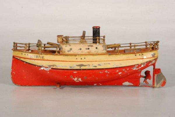 3: Olympia Battleship Clockwork Toy Boat