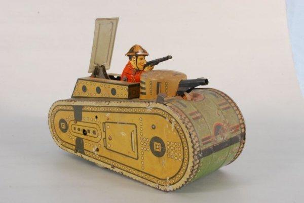 4: Marx Keywind Toy Tank