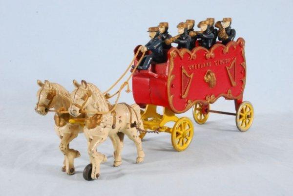21: Kenton Overland Circus Wagon Cast Iron Toy