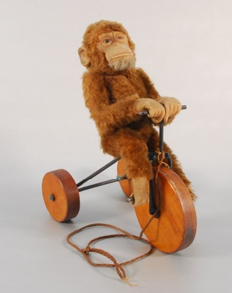 26: Steiff Monkey on Tricycle Pull Toy