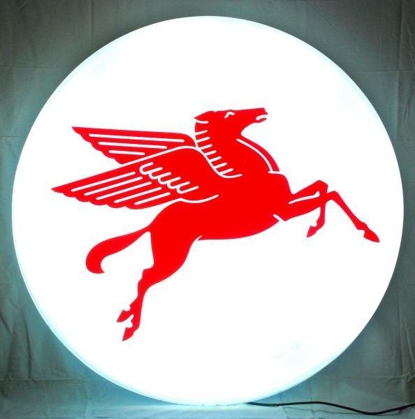 30: Mobil Pegasus Lighted Service Station Sign