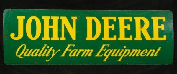 33: John Deere Tractors Porcelain Dealership Sign