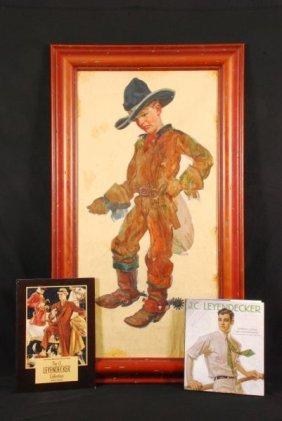 J. C. Leyendecker Young Cowboy Oil On Canvas