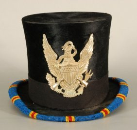 Brooks Brothers Top Hat With Beadwork