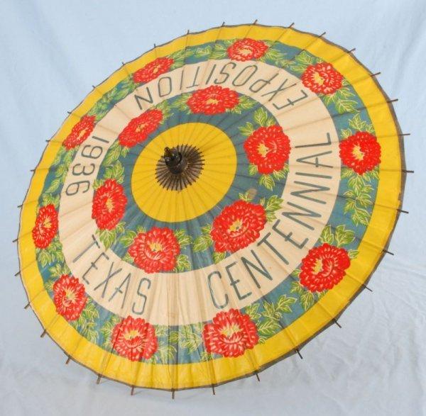 265: Texas Centennial Parasol 1836 - 1936