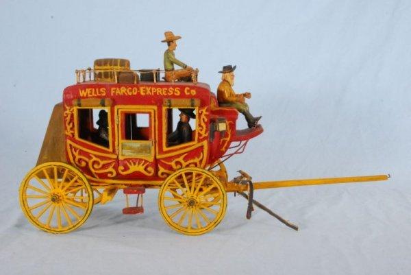 268: Folk Art Wells Fargo Express Stagecoach