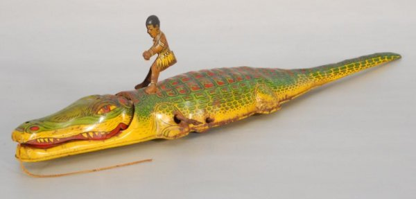 269: Chein Wind Up Tin Man Riding Alligator