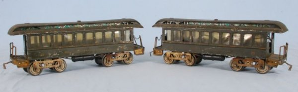 272: Two Early New York Central Lines Railroad Cars