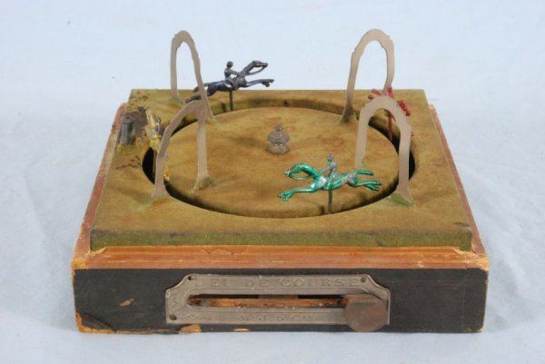 278: Wind Up Horse Racing Toy In Box
