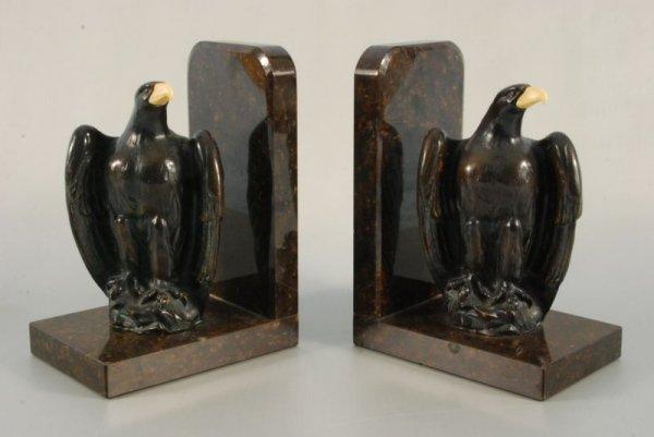 261A: Pair Bronze Bald Eagle Bookends