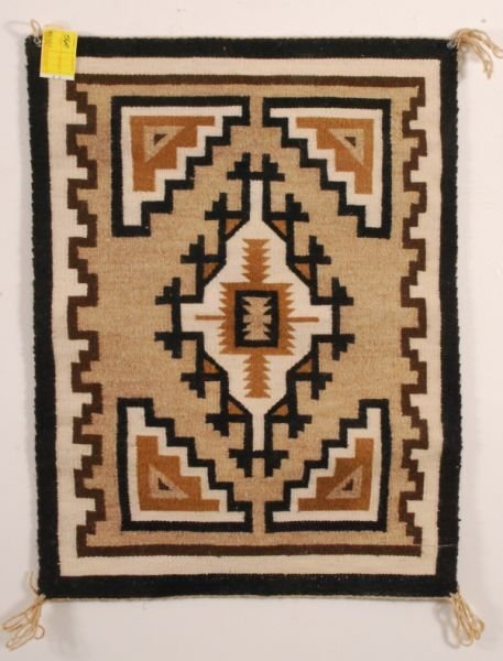 560: Two Grey Hills Navajo Rug by Weaver Lucy Smiley