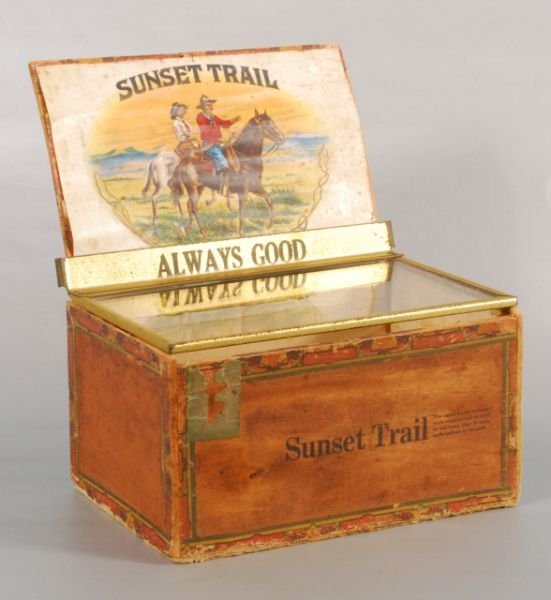 578: Sunset Trail Cigar Box with Whirling Logs