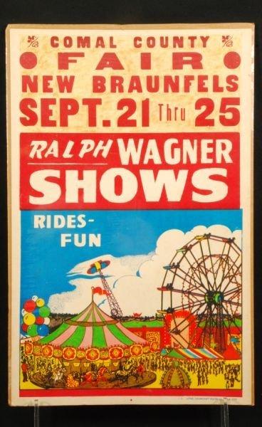 644: Vintage New Braunfels Texas County Fair Poster