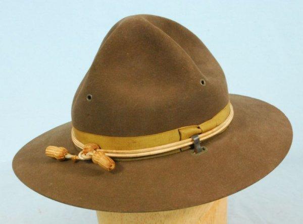 684: Vintage John B Stetson US Cavalry Campaign Hat