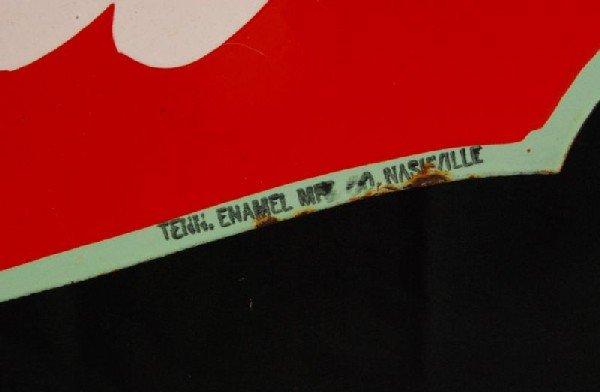 8: Coca-Cola Fountain Service 1934 DS Porcelain Sign - 4