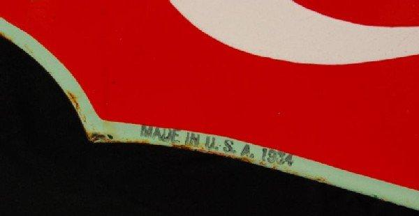 8: Coca-Cola Fountain Service 1934 DS Porcelain Sign - 5